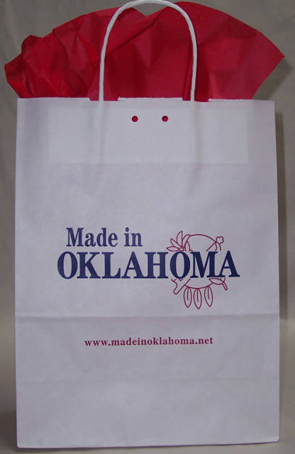 Made In Oklahoma Paper Tote Bag