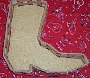 Boot Shaped Basket
