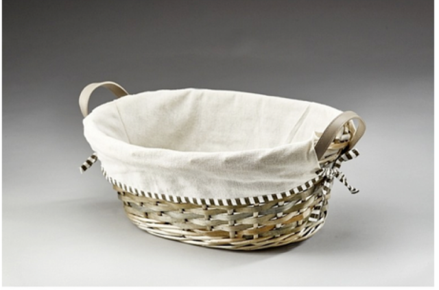 Oval Willow Tray with Liner
