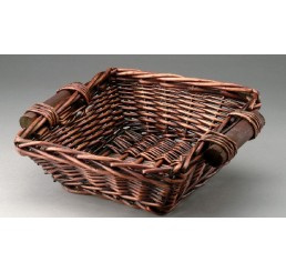 Brown Stained Basket Square