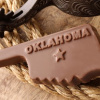 Oklahoma Shaped Chocolate